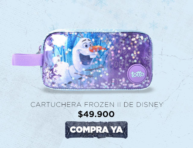 Totto y Frozen 2 de Disney - Cartuchera 2019