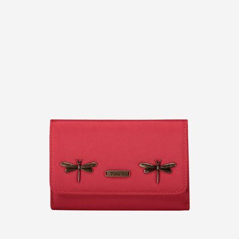 billetera-para-mujer-en-lona-aveja-remora-rojo