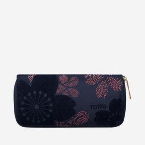 billetera-para-mujer-alargada-en-lona-flores-kuma-azul