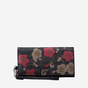 billetera-para-mujer-porta-celular-en-lona-flores-sahula-verde