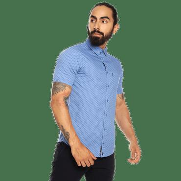 camisa-para-hombre-manga-corta-mini-print-porter-estampado-uum-kentucky-blue-mini-print