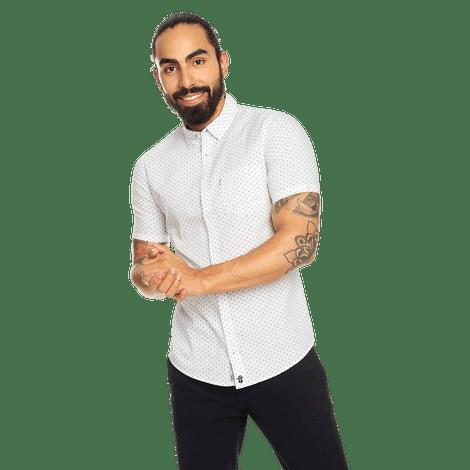 camisa-para-hombre-manga-corta-mini-print-porter-estampado-swm-white-mini-print