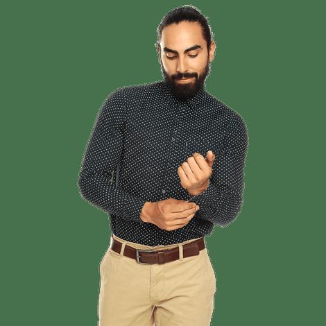camisa-para-hombre-porter-manga-larga-azul