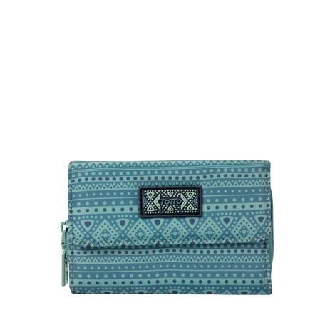 Billetera-para-Mujer-en-Poliester-Estampado-Palca-azul-coronet-blue