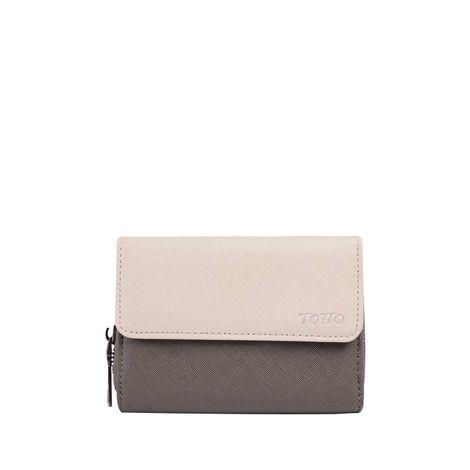 Billetera-para-Mujer-en-Pu-Leather-Cancri-terreo-terreo-gris