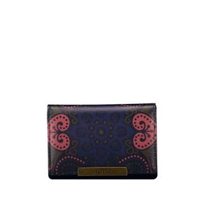 Billetera-para-Mujer-en-Pu-Leather-Estampada-Sinistra-azul-blue-indigo