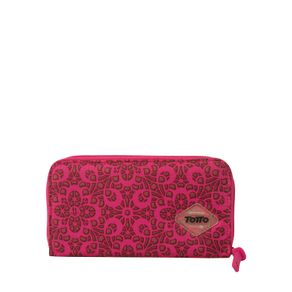 Billetera-para-Mujer-Estampada-en-Lona-Eshita-rosado-ojal