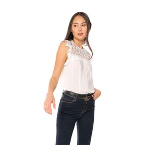 Blusa-para-Mujer-con-encaje-Aconchi-blanco-snow-white