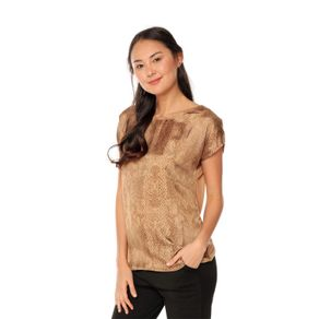 Blusa-para-Mujer-Manga-Corta-Estampado-Aura-terreo-flash-animal-brown