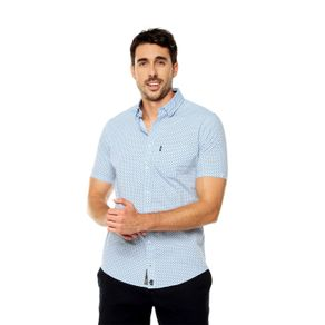 Camisa-para-Hombre-Cuello-Button-Down-Oculto-Slim-Fit-Porter-Mc-azul-kentucky-blue-target-mini-print