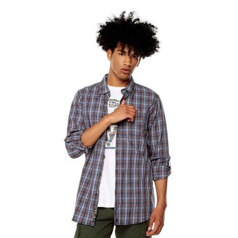 Camisa-para-Hombre-Cuello-Button-Down-Regular-Fit-Down-Ml-azul-coronet-blue-mini-checks