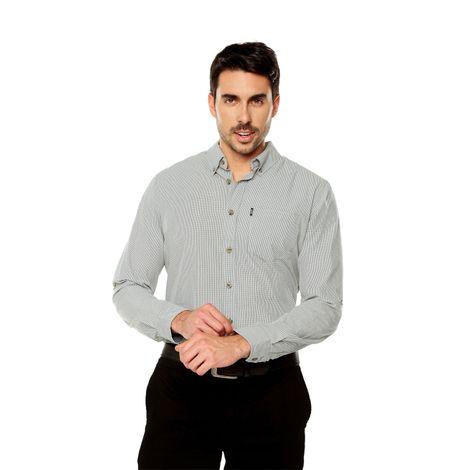 Camisa-para-Hombre-Cuello-Button-Down-Regular-Fit-Down-Ml-gris-castor-gray-mini-checks