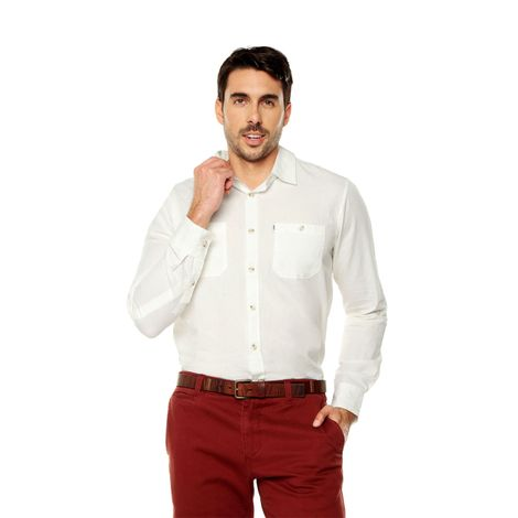 Camisa-para-Hombre-Cuello-Clasico-Regular-Fit-Olivery-Ml-blanco-snow-white