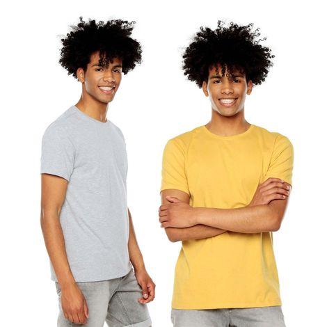 Camiseta-para-Hombre-Basica-Cuello-Redondo-Mozart-Totto-Colors-azul-azul-gris