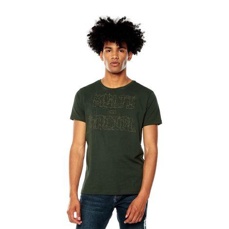 Camiseta-para-Hombre-Bordada-Hiliny-verde-dark-olive