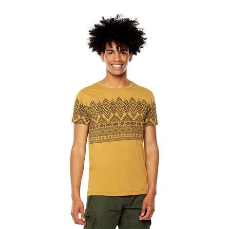 Camiseta-para-Hombre-Estampada-Mangy-terreo-bone-brown