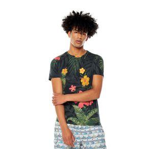 Camiseta-para-Hombre-Full-Print-Pasilla-azul-pasilla-night-sky-flowers