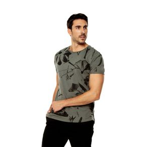 Camiseta-para-Hombre-Full-Print-Tekana-verde-night-blooming-flowers