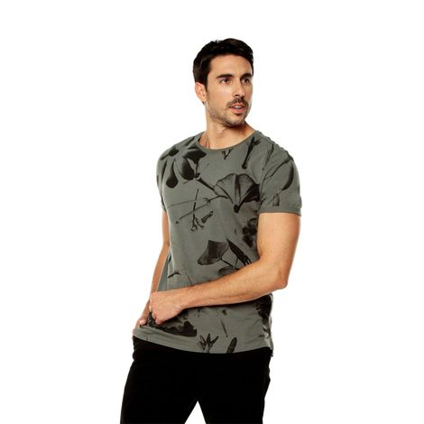 Camiseta-para-Hombre-Full-Print-Tekana-verde-night-blooming-flowers