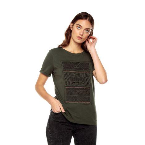 Camiseta-para-Mujer-Estampada-con-borlas-Arfy-1-verde-dark-olive