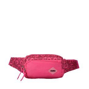 Canguro-para-Mujer-con-Estampado-en-Lona-Laraby-rosado-ojal