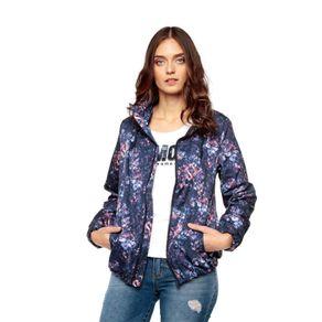 Chaqueta-para-Mujer-Pray-azul-navy-blazer-ethnic-geometric