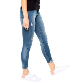 Jeans-para-Mujer-Skinny-y-desflecados-Crambe-azul-indigo
