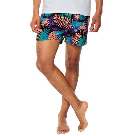 Pantaloneta-para-Hombre-Pretina-Elastica-Shortick-negro-cumbery-chameleon-black