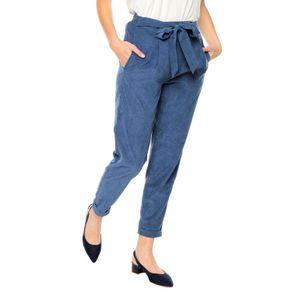 Pantalon-para-Mujer-con-cinturon-Siuty-azul-blue-indigo