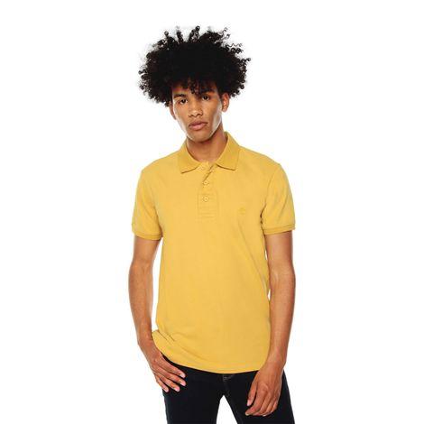 Polo-para-Hombre-Basica-en-Algodon-Youngpolo-amarillo-ochre