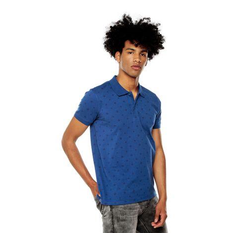 Polo-para-Hombre-Preteñida-Glifo-azul-glifo-limoges-mini-sun