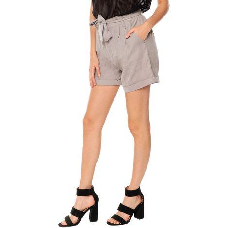 Short-para-Mujer-con-cinturon-y-dobladillo-Sapote-gris-titanium