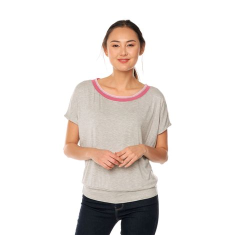 Top-para-Mujer-Manga-Corta-Labexy-gris-gray-mix