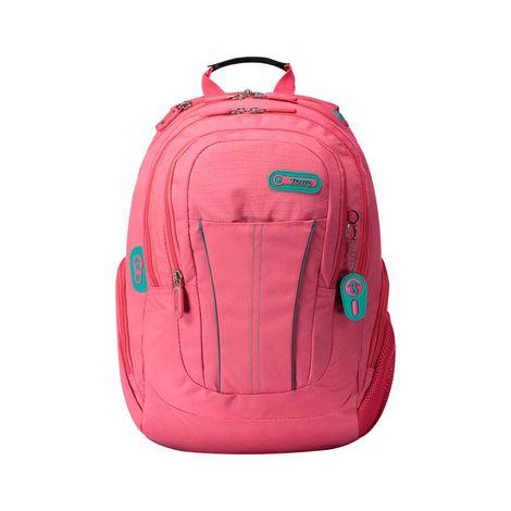 Morral-con-Porta-PC-y-Porta-Tablet-Stande-negro-negro-black-rosado-sunkist-coral