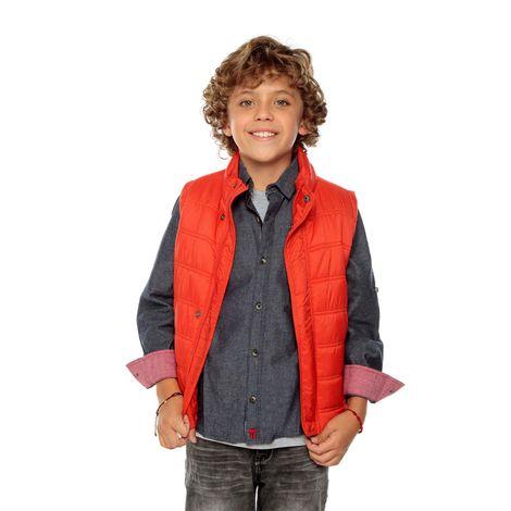 Camisa-Manga-Larga-para-Niño-con-Charreteras-Codorachi-azul-indigo-azul-indigo