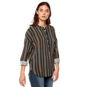 Camisa-para-Mujer-Manga-Larga-Bacanora-verde-dark-olive-stripes-verde-dark-olive-stripes