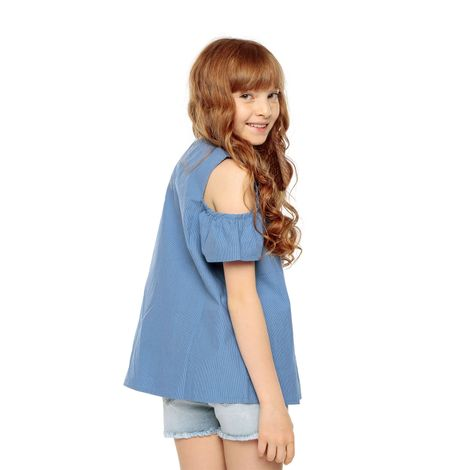 Camisa-para-Niña-Kuni-azul-kuni-blue-stripes-azul-kuni-blue-stripes