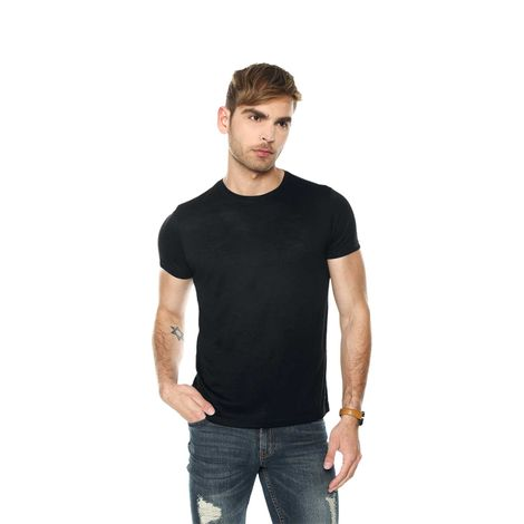 T-shirt-para-hombre-lustre-negro