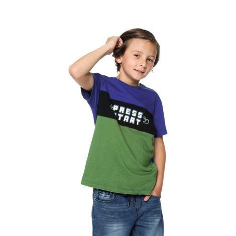 Camiseta-Estampada-con-Bloques-de-Color-para-Niño-Wirte