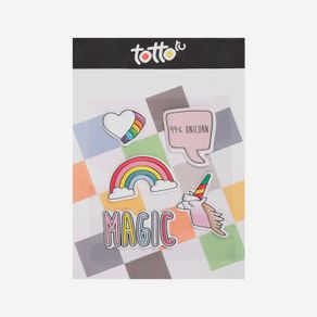 Sticker-para-Niña-Adhesivo-de-Espuma-Corazon-Arcoiris-Magic-Unicornio-Koichy
