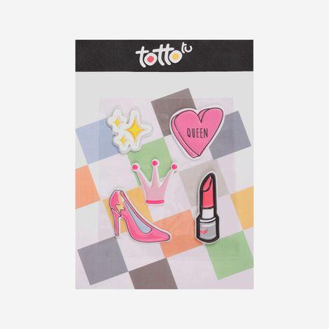 Sticker-para-Niña-Adhesivo-de-Espuma-Estrella-Corona-Tacon-Labial-Corazžn-Koichy