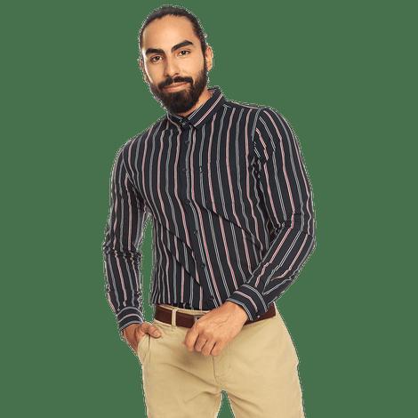 Camisa-para-Hombre-Manga-Larga-Rayas-Damario
