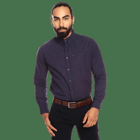 Camisa-para-Hombre-Manga-Larga-Cuadros-Down
