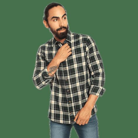 Camisa-para-Hombre-Manga-Larga-Cuadros-Indostan
