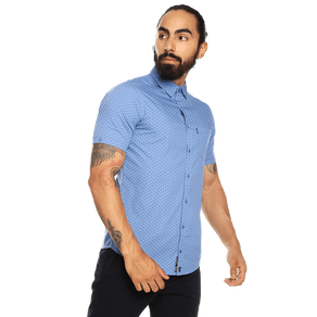 Camisa-para-Hombre-Manga-Corta-Mini-Print-Porter