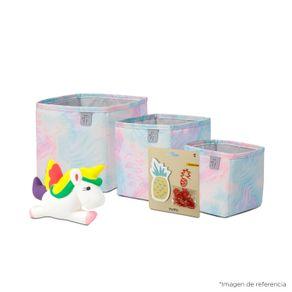 Kit Cajas organizadoras Boxi, Pelota antiestrés Unicornio y  Sticky Notes
