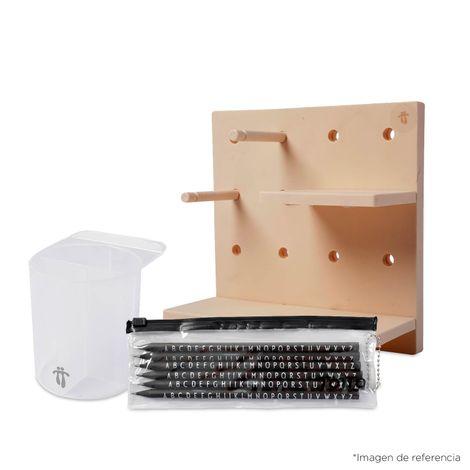 Kit Tablero Organizador Modular, Organizador Rígido y  Lápices