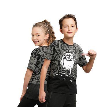 Camiseta-Para-Niños-Unisex-Groupy-Minions