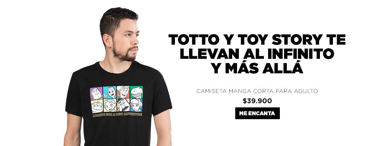 Camiseta adulto Toystory4 Totto Colombia 2018